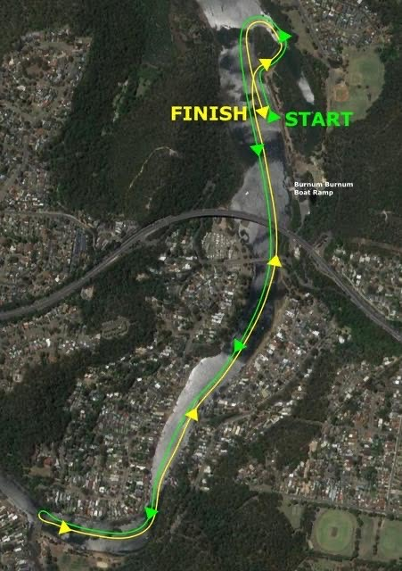 Satellite view of the 5km time trial course